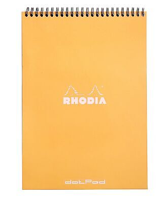 Rhodia Wirebound Notebook 8 14 X 11 34 Dot Pad Orange