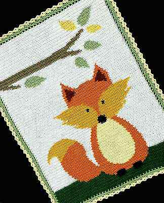 Crochet Patterns - FOX WOODLAND/FOREST Baby Afghan Pattern *EASY*