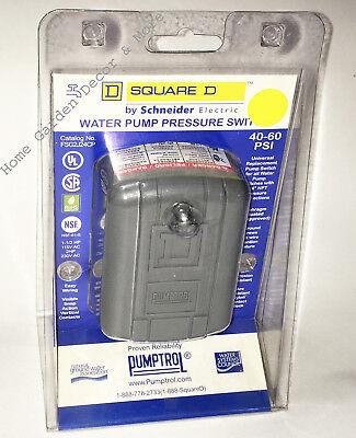 Square D Well Water Pump Pressure Switch Pumptrol 40-60 Psi 14 Npt Fsg2j24cp