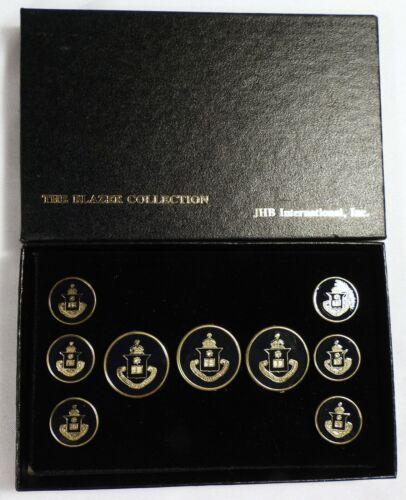 Vtg NOS JHB International BLAZER Button SET Metal Enamel Latin True Joy Seneca