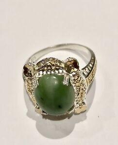 Serpentine Ring Sterling Silver sz 7