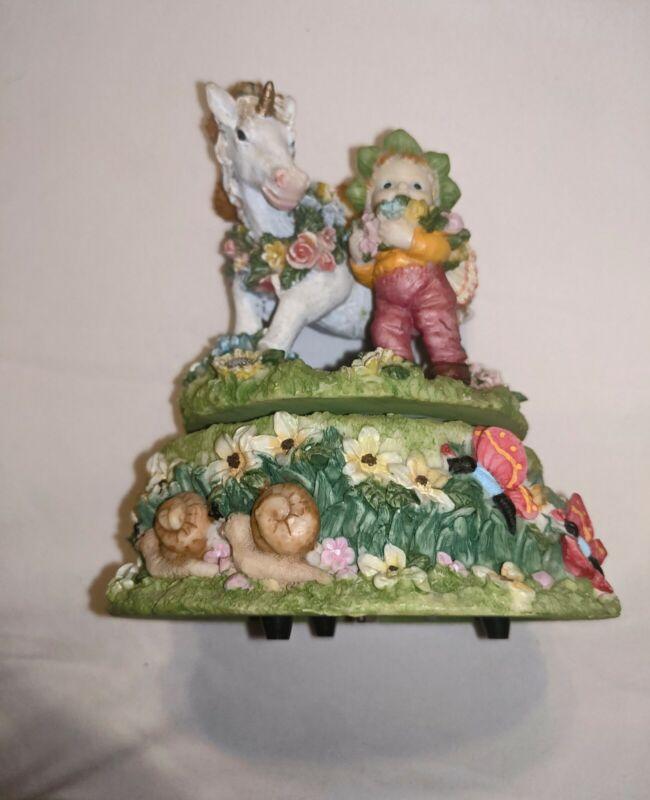 Unicorn And Angel Music box, rare