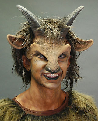 Goat Boy Beast Satyr Pan Adult Halloween Mask Eat Drink & Party While Wearing](Adult Halloween Party Drinks)