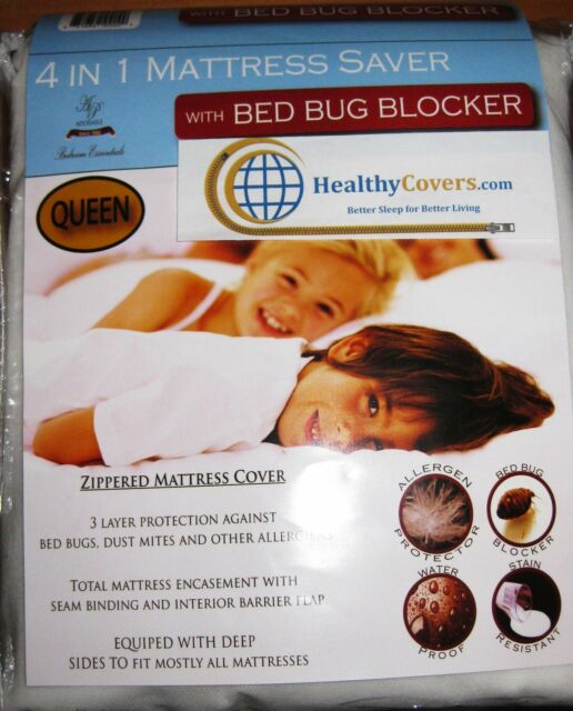 4 in 1 bed bug blocker mattress saver - queen | ebay