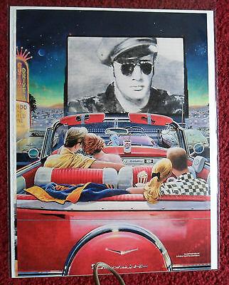 1998 Magazine Art Page ~ Martin Hoffman Chevy at the Drive-In Marlon Brando