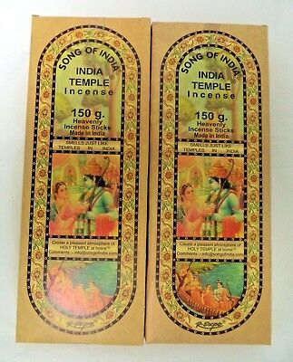 Song Of India Incense Sticks  300 Gram  2 X 150  Xl Indian Temple Stick