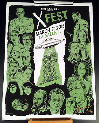 THE X-FILES X-FEST LOT TWO EXCLUSIVE POSTERS SKINNER BADGE BACKPACK AND MORE!