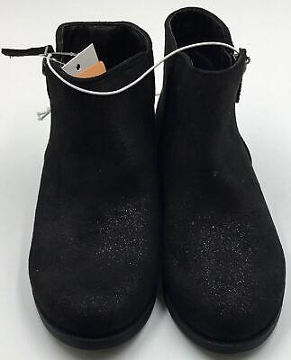 Girls Ankle Boots- Cat & Jack- Black Glitter- Various
