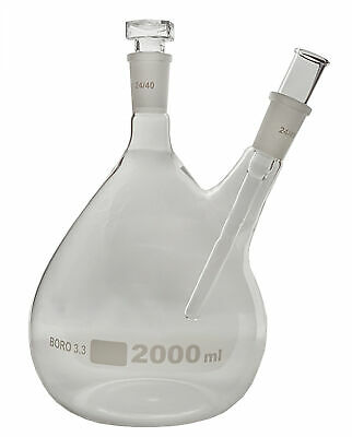 Distillation Flask With Thermometer Holder 2 Liter