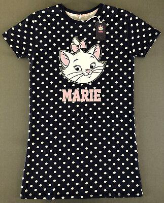 Disney Aristocats Marie Nachthemd Damen Bigshirt Kurzarm Schlafshirt XS-S-M-L-XL