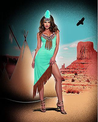 Sexy Dreamgirl Adult Women's Halloween Tribal Temptation Indian Girl - Indian Girl Adult Kostüm