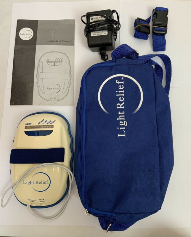 Light Relief LR100 Infrared Pain Therapy System with Power Supply & Carrying Bag