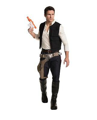 Adult Men's Star Wars Han Solo Grand Halloween Cosplay Costume Shirt Vest - Han Solo Costumes
