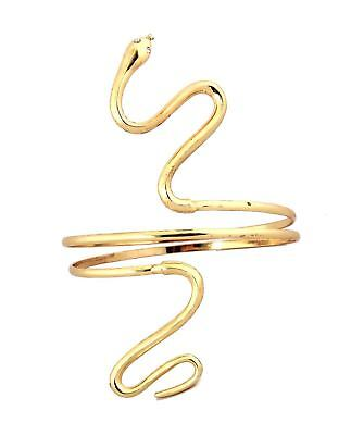 SNAKE Armband ASP Greek Roman Egyptian GODDESS gold Metal Costume Jewelry - Egyptian Costume Jewelry