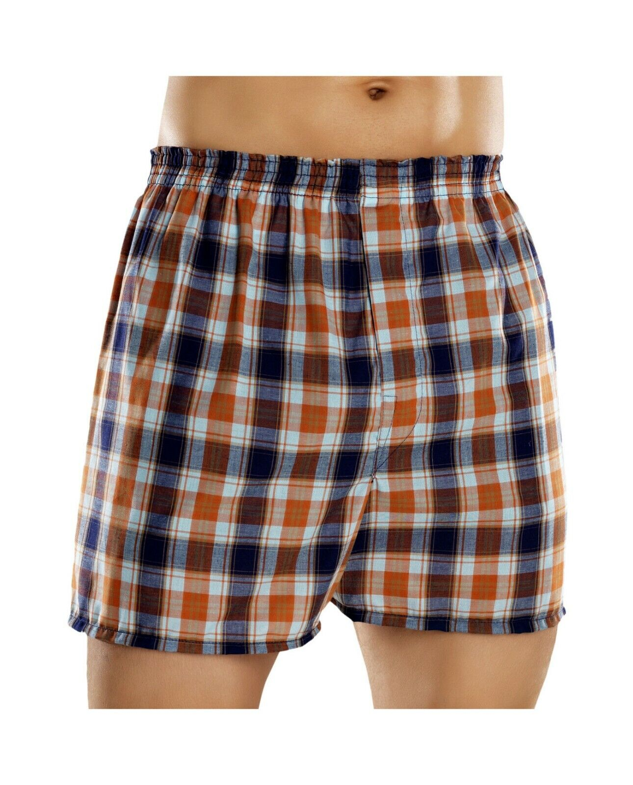 Fruit of the Loom Men's Plaid Woven Boxers Big Sizes (Pack 5) 2x-3x Clothing, Shoes & Accessories