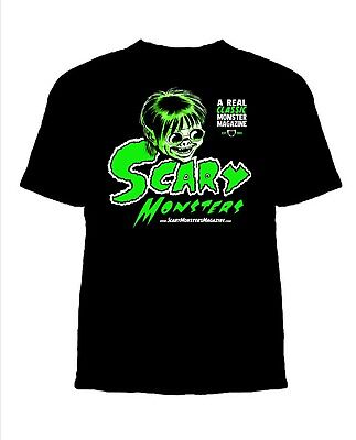 Scary Monsters Magazine Retro Martian Green Classic Horror Sam Scare T-Shirt NEW (Martian Monster)
