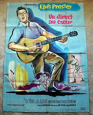 Vintage Original 1962 - KID GALAHAD - ELVIS PRESLEY Movie Poster 1sh Film music