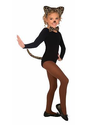 Child Leopard Costume (Child Leopard Cat Costume Kit School Play Zoo Wild Animal Girls Boys)