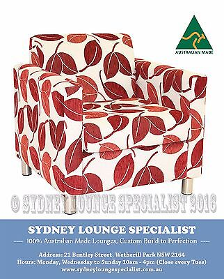 Brand New - AUS MADE Mossvale (Avia Leaf) Accent/Occasional Chair Sofa Lounge