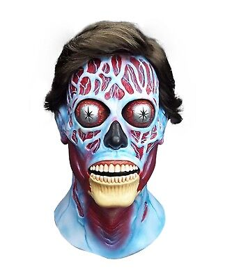 Adult Men's They Live Sci-Fi Movie Latex Halloween Cosplay Costume Alien Mask](Alien Movie Mask)