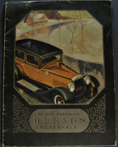 1928 Hudson Super Six 6 Catalog Sales Brochure Nice Original 28