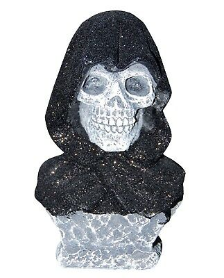 Death Grim Reaper Skull Statue Bust Halloween Decoration Scary Haunted House