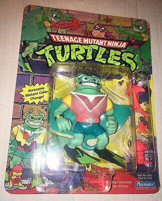 Teenage Mutant Ninja Turtles Colors (Teenage Mutant Ninja Turtles 1990 Ray Filet Color Change MOC 39 Back VHTF)