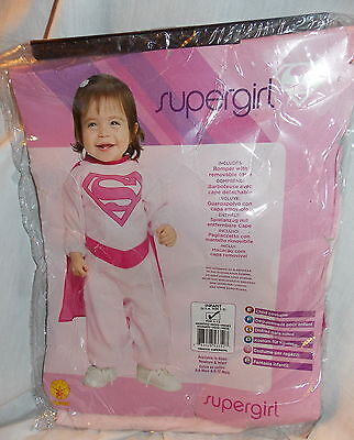 Infant Pink Supergirl Costume Size 6-12 Months by Rubies NEW in Package