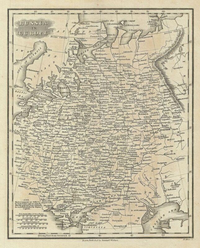 1828 Malte-Brun Map of Russia in Europe