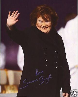 SUSAN BOYLE SUBO AUTOGRAPH SIGNED PP PHOTO POSTER