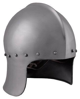 Battle Merchant Englisch Bogenschützenhelm 15.Jh. Stahl Helm Mittelalter LARP