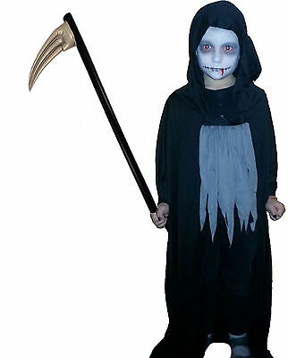 Grim Reaper Sensenmann Gr.110/122 + Sense 1m aufblasbar Halloween Schrecken
