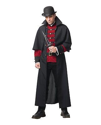 Mystery Cloak Adult Halloween Costume Men's Victorian Steampunk Sherlock Std XL