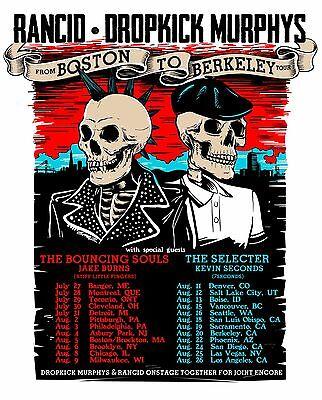 RANCID /DROPKICK MURPHYS 2017 NORTH AMERICAN CONCERT TOUR POSTER-Ska/Celtic Punk