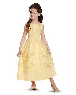 Disney Belle Ball Gown Dress Girls Costume Beauty & The Beast XS 3T-4T S 4-6 M78 (Disney Bell Dress)