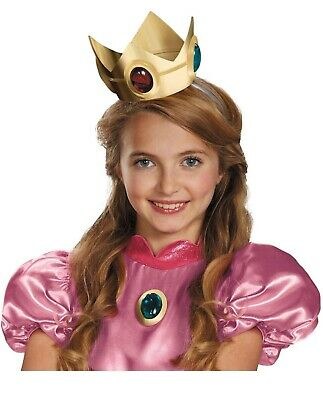 Super Mario And Princess (Princess Peach Costume Crown and Amulet Nintendo Super Mario Brothers One Size)
