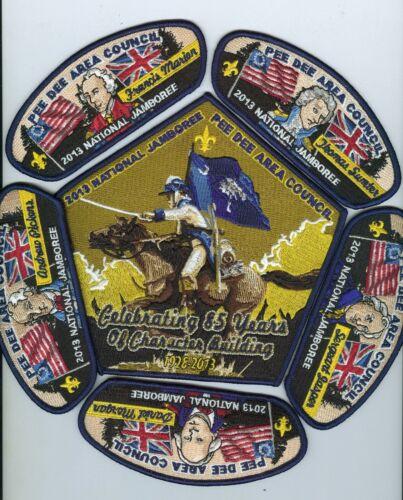 MINT 2013 National Jamboree Pee Dee Council 6-Piece JSP / Back Patch Set