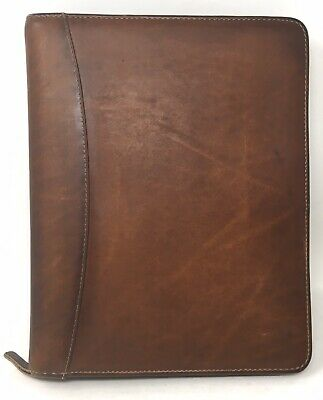 Franklin Quest Dakota Genuine Leather 7 Ring Organizer 14689.096 Made In Usa