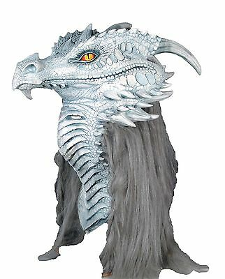 Halloween ANCIENT DRAGON PREMIERE Adult Latex Deluxe Mask Costume NEW