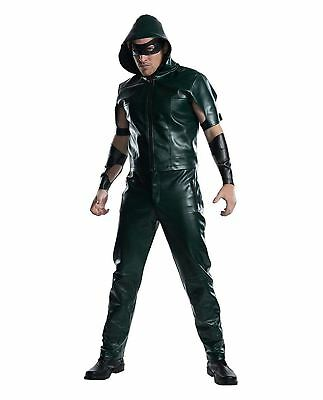 Mens Green Arrow Licensed Costume Superhero Starling City Archer DC Comics Hero - Mens Superhero Costumes
