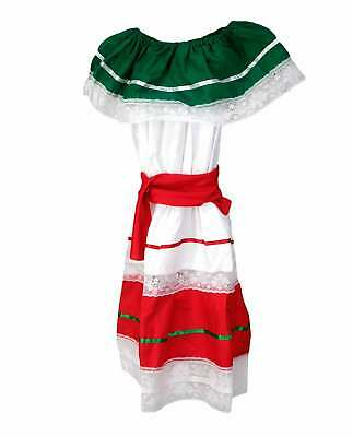 Kids Girls Mexican Traditional Cinco De Mayo Dancer Coco Costume Fiesta Dress](Mayonnaise Costume)