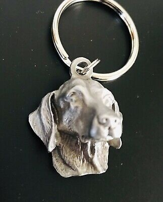 Pewter GOLDEN RETRIEVER Dog Head Puppy Silver Metal (Pup Retriever)
