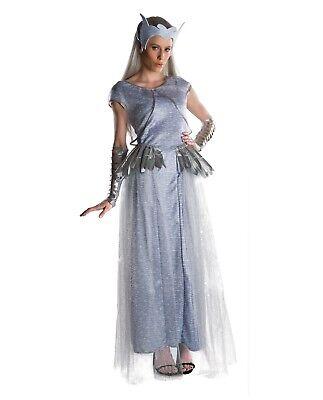 Adult Women's Snow White Huntsman Deluxe Freya Costume Dress Crown Ice Queen - Adult Ice Queen Costume