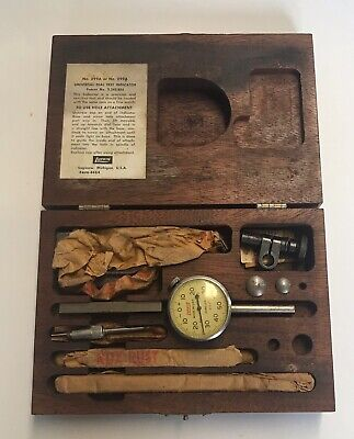 Lufkin No.399a 299a Back Plunger Universal Dial Test Indicator Kit Wwood Box