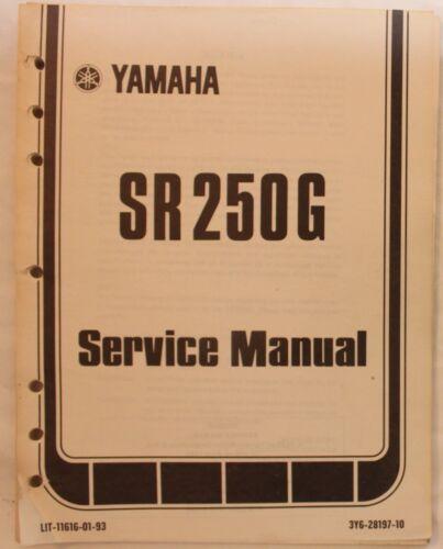 m Original 1980 Yamaha SR250G Service Manual