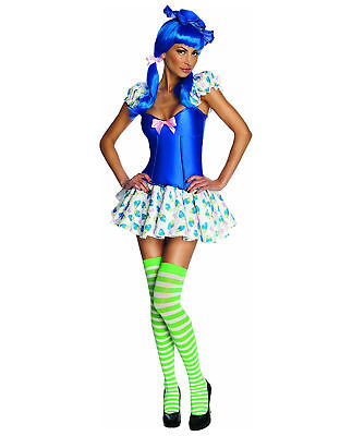 Adult Women's Blueberry Muffin Costume Dress Strawberry Shortcake 90's Cartoon