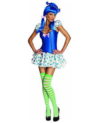 Adult Women's Blueberry Muffin Strawberry Shortcake 90's Cartoon Costume Dress - Strawberry Adult Costume