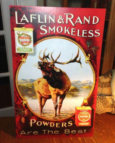 REPRO Laflin & Rand Gunpowder with Elk Standing Advertising Die-Cut