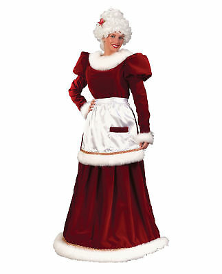 Rental Quality Classic Mrs. Santa Claus Dress Christmas Velvet Costume M/L - Santa Costume Rentals