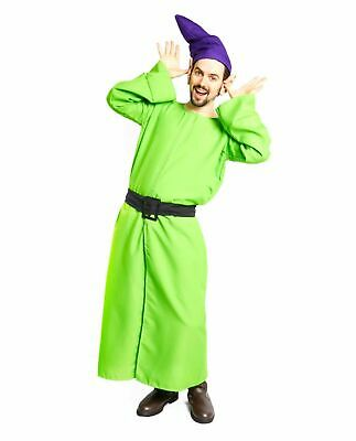 Mens Snow White and the Seven Dwarves Dopey Robe Hat Ears Dwarf Costume Kit